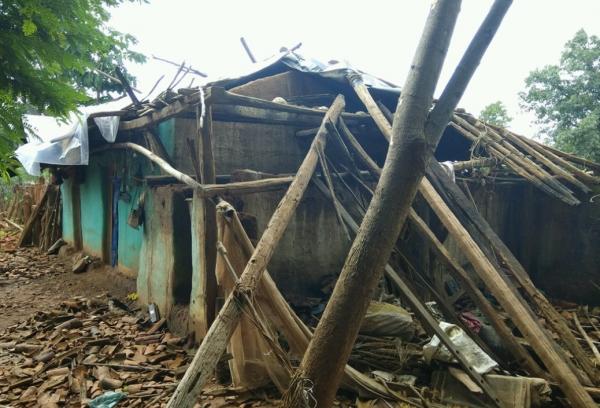 마을 주민들에 의한 공격으로 파손된 인도 기독교인 가정