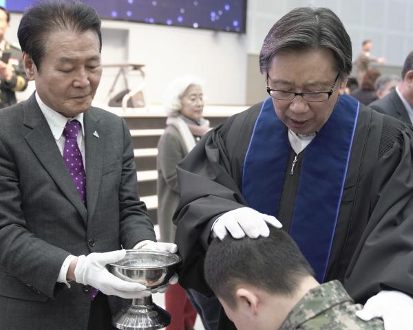 육군훈련소 연무대군인교회 진중세례식