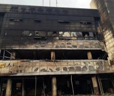 강원도 대형 산불로 영동극동방송 건물 2개 층 전소